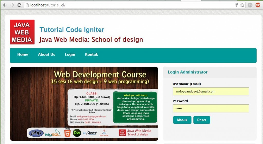 Kursus Web Design Java Web Media