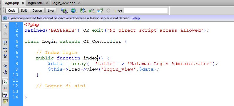 Controller Login - Kursus Web Programming Java Web Media
