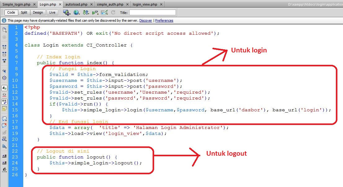 Login dan Logout Codeigniter - Java Web Media