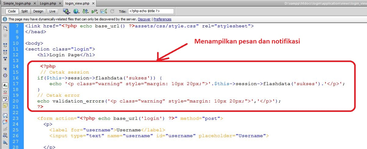 Form Login Codeigniter - Java Web Media
