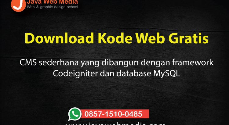 Download Tutorial Codeigniter - Java Web Media