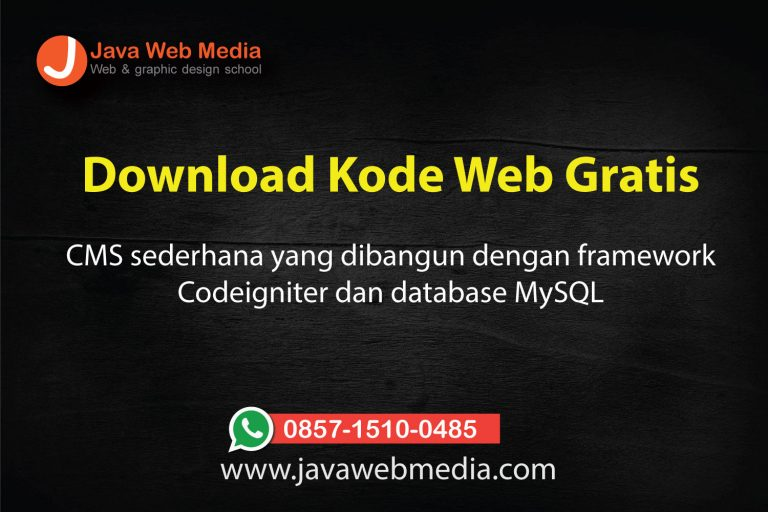 Download Sample Website Sederhana dengan CMS berbasis Codeigniter