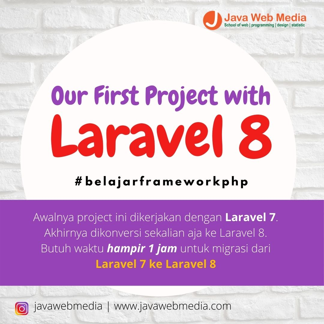 Our First Project with Laravel 8