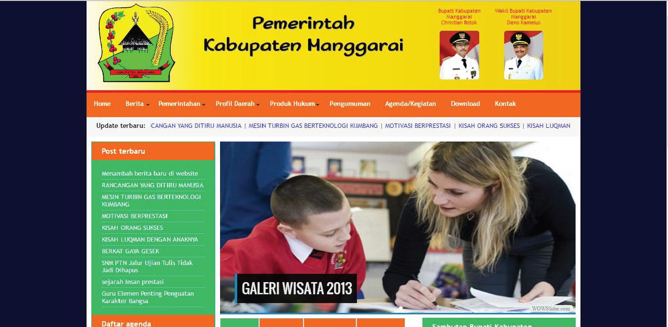 Website Pemkab Kabupaten Manggarai - Kabupaten Manggarai