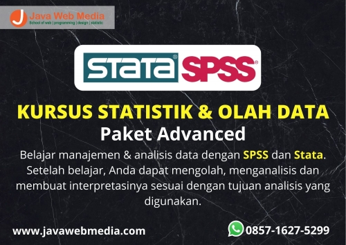 Kursus Statistik dan Olah Data (SPSS dan STATA) Paket  Advanced