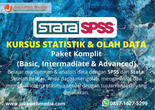 Kursus Statistik dan Olah Data (SPSS dan STATA) Paket Komplit