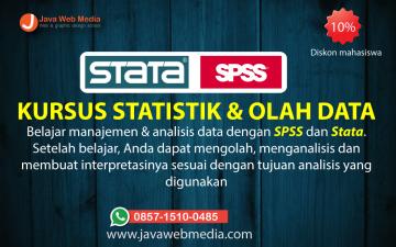Kursus Statistik dan Olah Data (SPSS dan STATA) Paket  Advanced