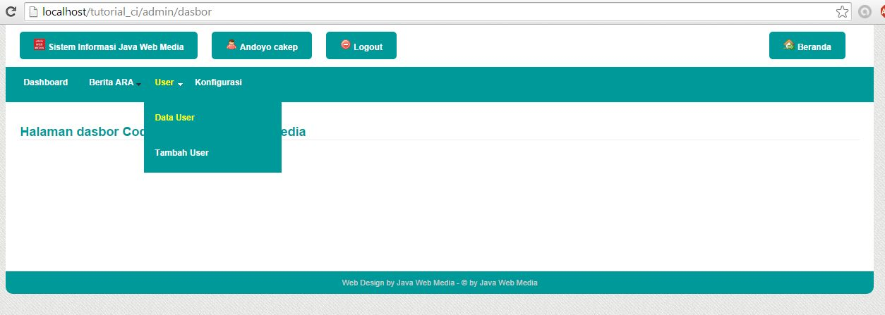 Belajar Code Igniter di Java Web Media
