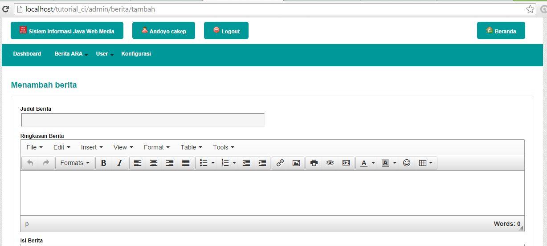 Kursus Web Design Java Web Media