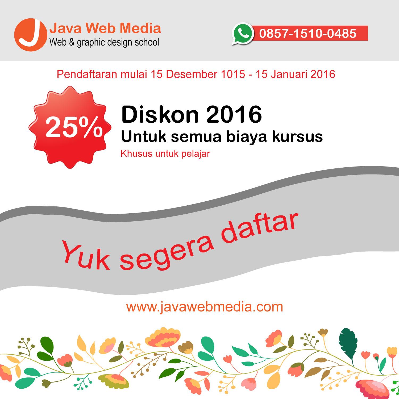 Diskon Biaya Kursus Tahun Baru 2016