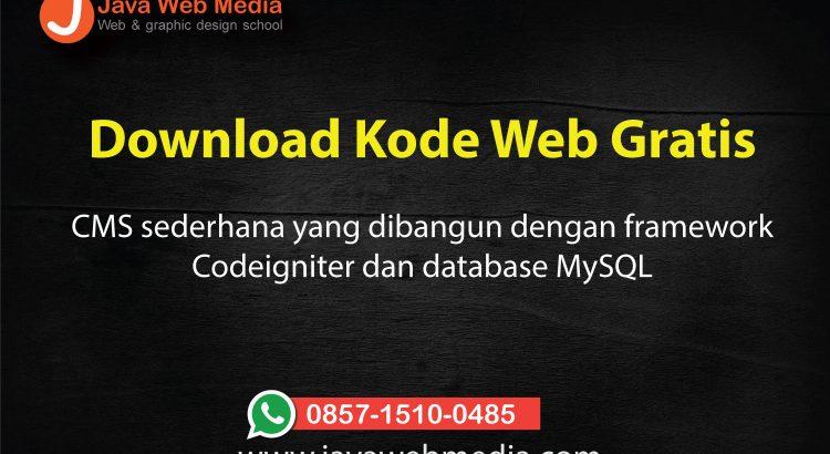 Download Tutorial Codeigniter - Java Web Media