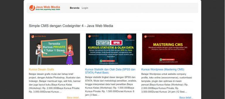 Download Website Sederhana dengan Codeigniter 4