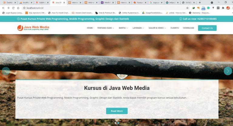 Website Company Profile - Kursus Web Depok